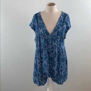 Anthropologie Vanessa Virginia Knot Front Top
